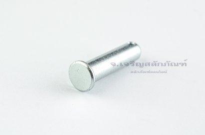 สลักหัวแบนกลม-ปิ๊นหัวแบน (Steel Clevis Pin) ขนาด 10x40