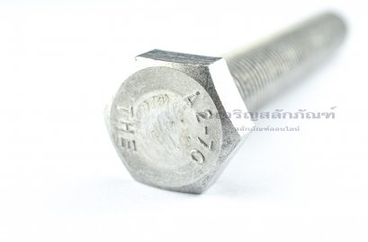 น็อตหัวเหลี่ยมสแตนเลส Stainless Steel Hex Bolt M20x130 เกลียวตลอด