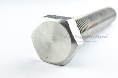 น็อตหัวเหลี่ยมสแตนเลส Stainless Steel Hex Bolt M24x150 เกลียวตลอด