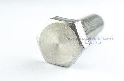 น็อตหัวเหลี่ยมสแตนเลส Stainless Steel Hex Bolt M24x90 เกลียวตลอด