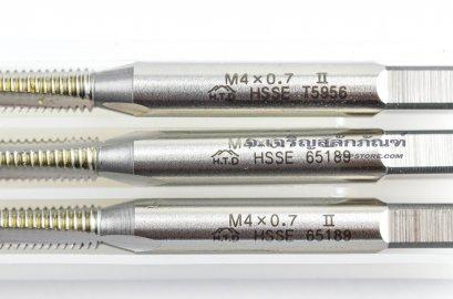 ดอกต๊าปเกลียวสแตนเลส 3 ตัวชุด M4x0.7 ญี่ปุ่น