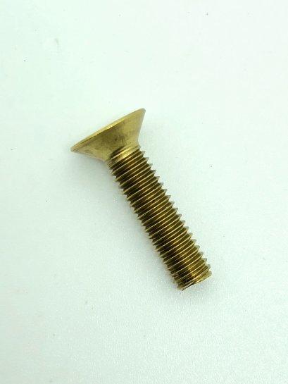สกรูน็อตทองเหลืองหัวเตเปอร์แฉก M6x25
