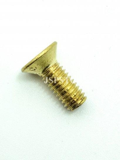 สกรูน็อตทองเหลืองหัวเตเปอร์แฉก M6x15