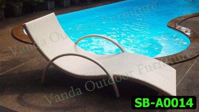 เตียงสระน้ำ/เตียงนอน หวายเทียม รหัสสินค้า SB-A0014
