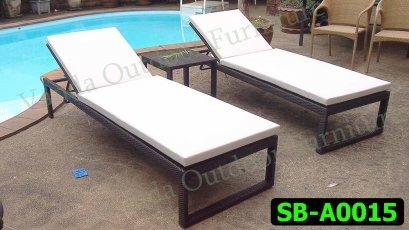 เตียงสระน้ำ/เตียงนอน หวายเทียม รหัสสินค้า SB-A0015