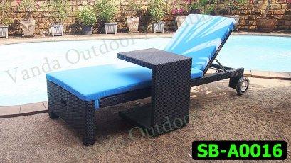 เตียงสระน้ำ/เตียงนอน หวายเทียม รหัสสินค้า SB-A0016