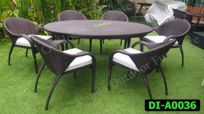 Rattan Dining and coffee set Product code DI-A0036