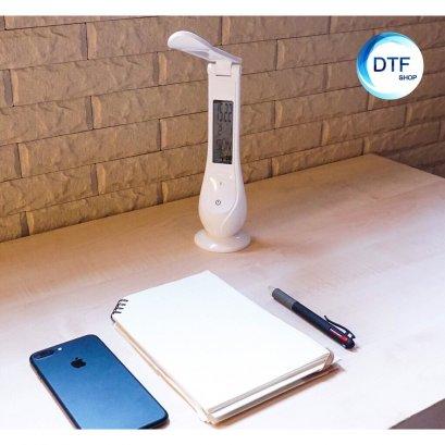 โคมไฟLED ตั้งโต๊ะมีปฏิทินในตัว พับได้ โคมไฟอ่านหนังสือ รุ่นC21