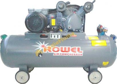 ปั้มลม ROWEL 115ลิตรรุ่น BV65-110S มอเตอร์จากโรงงานขนาด 3HP