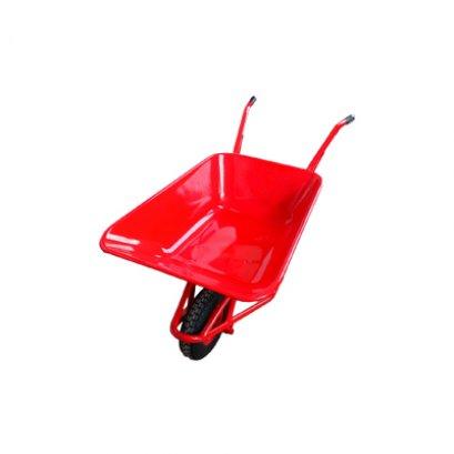 รถเข็นปูนล้อแม็กเดี่ยว สีแดง