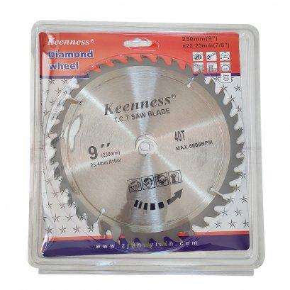 KEENNESS ใบเลื่อยวงเดือน ใบเลื่อย ใบตัด ใบเลื่อยตัดไม้ 9 นิ้ว (230 mm)