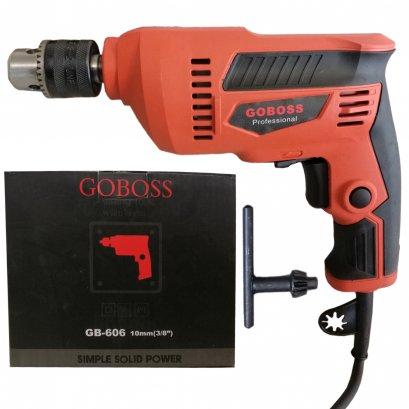 GOBOSS สว่านไฟฟ้า 3 หุน 10 มม. 950W ปรับรอบซ้าย-ขวา รุ่น GB606