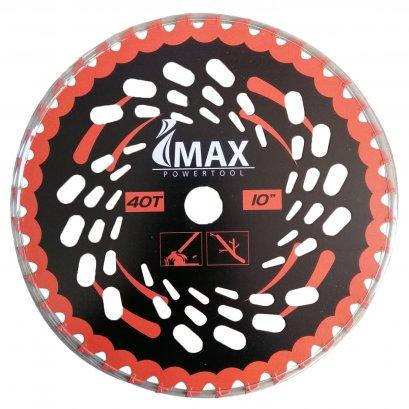 IMAX ใบมีดตัดหญ้า ใบเลื่อยวงเดือน ใบมีดตัดหญ้าวงเดือน 10 นิ้ว 40 ฟัน IM-TCT40