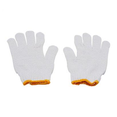 ถุงมือผ้าหนาพิเศษ สีขาว 10 คู่