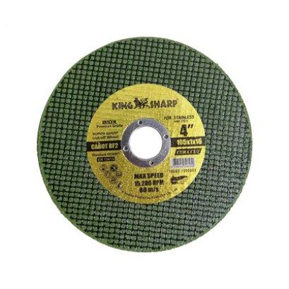 ใบตัดเหล็ก 4 นิ้ว KING SHARP (สีเขียว) CA60T BF2