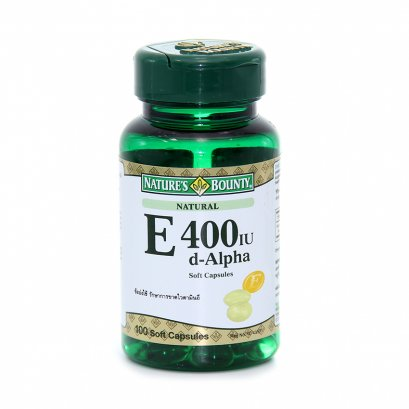 Nature's Bounty Vitamin E 400 IU (d-Alpha)