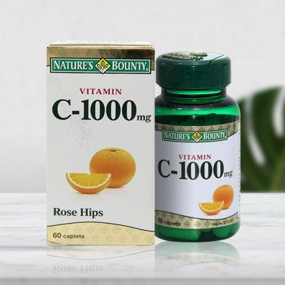 Nature's Bounty Vitamin C  1000 mg. (Rose Hips) 60 Caplets