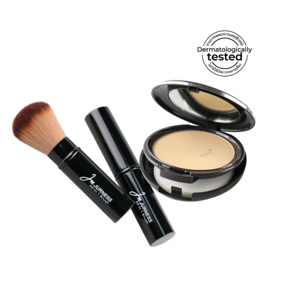 JURNESS Powder + Powder Brush