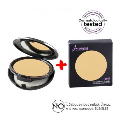 Set of 1 Compact Powder and 1 Refill -JURNESS