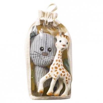 ชุดกิ๊ฟเซต ยางกัด Sophie the Giraffe พร้อมตุ๊กตาแมวลาซ่า