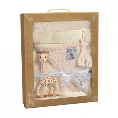 เซ็ทเด็กแรกเกิด ผ้าห่มและยางกัด Sophie the giraffe