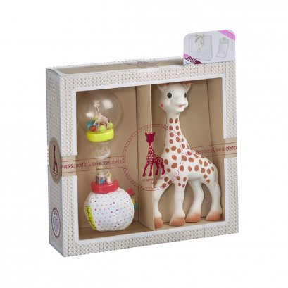 Sophie La Girafe Sophiesticated เซ็ทยางกัดโซฟี พร้อมของเล่น set 4