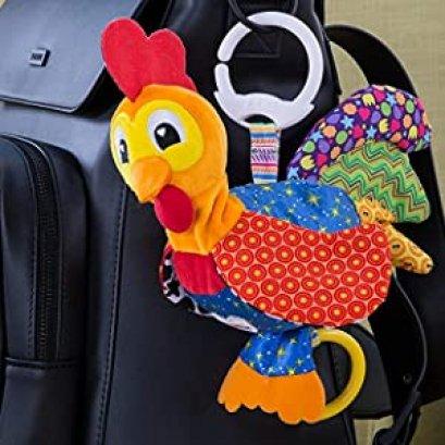 ตุ๊กตาไก่ห้อยรถเข็นสีสรรสดใส Lamaze Barnyard Bob Clip