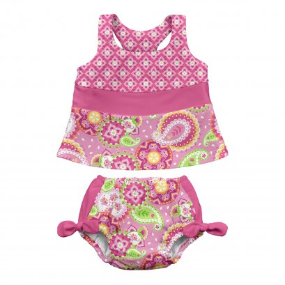 Iplay 2PC - Bow Set Diaper Pink