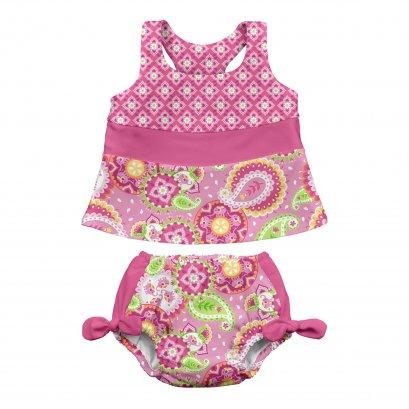 Iplay 2PC - Bow Set Diaper Pink