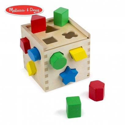 Melissa & Doug - บล๊อกหยอดรูปร่าง Shape Sorting Cube