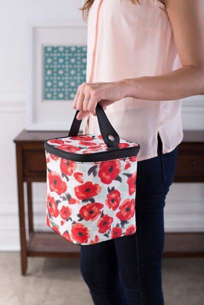 กระเป๋าเก็บอุณภูมิทรงสี่เหลี่ยม - JJ Cole Bottle Poppy Garden