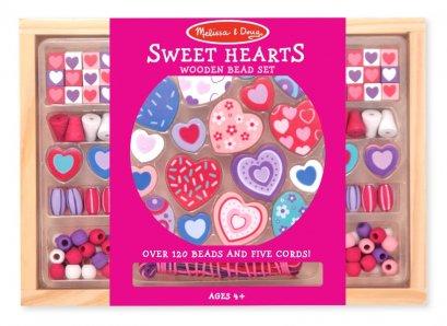 Melissa and Doug Wooden Bead Set - Sweet Heart