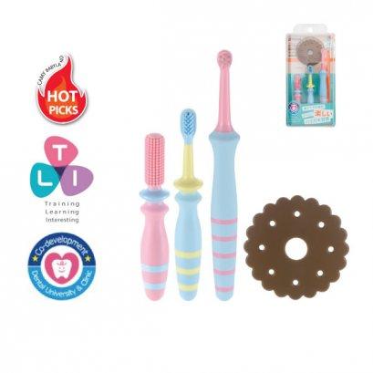 เซ็ทแปรงสีฟันสำหรับเด็ก 6 เดือนขึ้นไป Richell