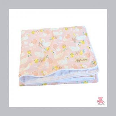 ผ้าห่มเด็ก Minky Dot White / Pretty Duck