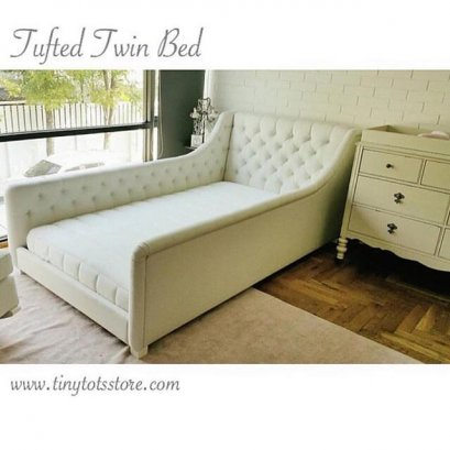 Tufted Twin Bed
