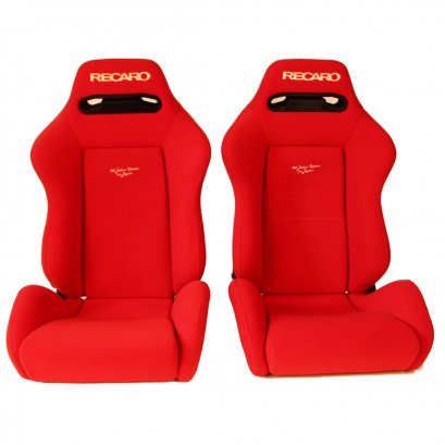 Pair of USED JDM RECARO SR3 Red BUCKET SPORT SEATS RACING AUTO CARS