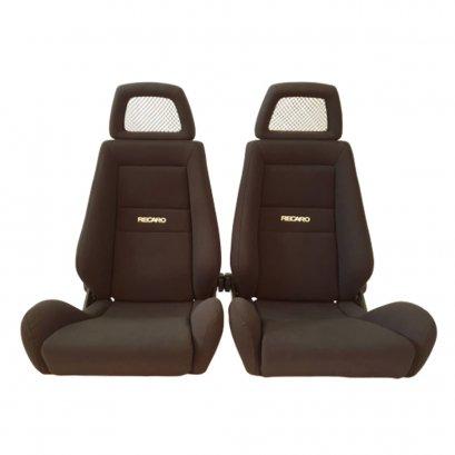 Pair of Used Jdm RECARO LX Black fabric Net HEADREST SEATS RACING PORSCHE EG EK AUTO CARS