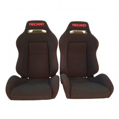 PAIR OF USED JDM RECARO SR3 Black BUCKET SPORT SEATS RACING PORCHE HONDA AUTO CARS