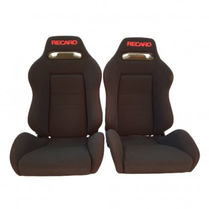 PAIR OF USED JDM RECARO SR3 Black BUCKET SPORT SEATS RACING PORCHE HONDA AUTO CARS