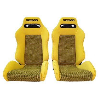 Pair of Used JDM RECARO SR3 Yellow Wildcat SEATS RACING BMW HONDA PORSCHE AUTO CARS
