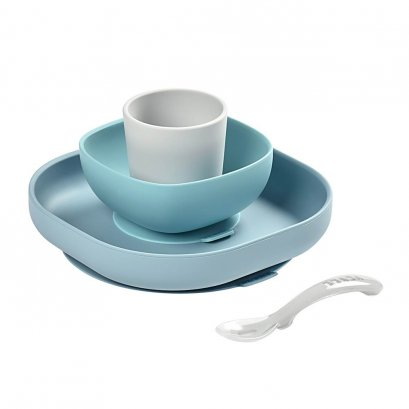 Beaba - Silicone Meal Set 4 pcs. Jungle