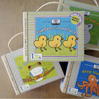 Innovative Kids - Memory card game & book set