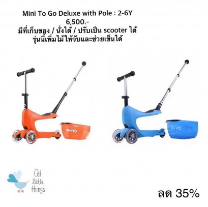 Micro Scooter : Mini2go Deluxe With Pole