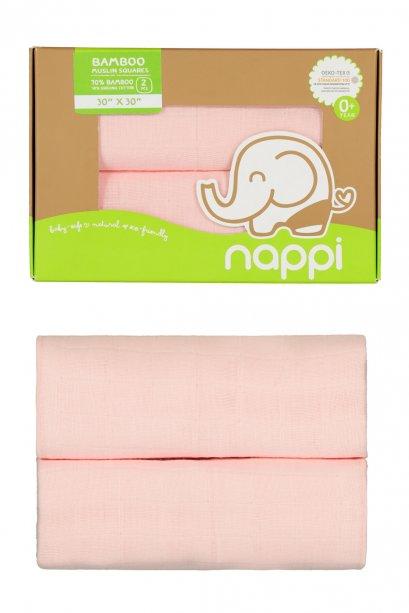 Nappi Baby - Bamboo Baby Muslin Pink ( 2 pcs. )
