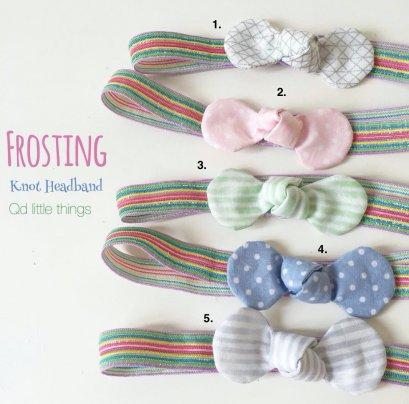 Qd Headband : Knot ( Frosting )