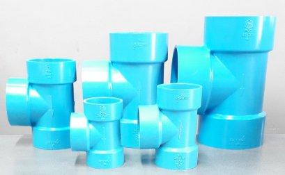 ข้อต่อสามทาง-บาง SCG  สีฟ้า