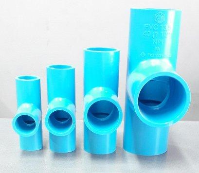 ข้อต่อสามทาง-หนา SCG สีฟ้า