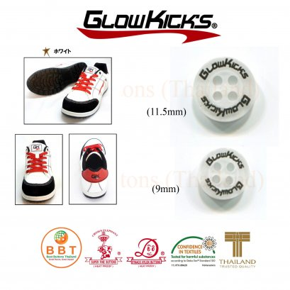 Screened buttons Glowkick's