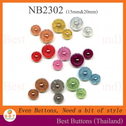 Colorful Glitter Buttons