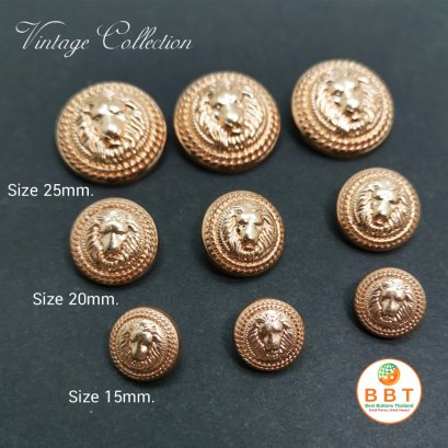 Lion Vintage buttons 15 mm